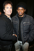 l to r: Sway and David Strumeier at the South Pole Fashion show during ' The Stay in School Concert ' facilated by Entertainers for Education held at The Manhattan Center on October 28, 2008 in New York City
