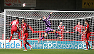 Crawley Town goalkeeper Freddie Woodman punches clear   during the Sky Bet League 2 match between Crawley Town and Accrington Stanley at the Checkatrade.com Stadium, Crawley, England on 26 September 2015. Photo by Bennett Dean.