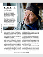Tom Kimbrough takes a moment at Alta, Utah.