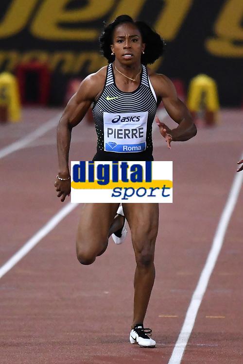 Barbara PIERRE USA 100m Women <br /> Roma 03-06-2016 Stadio Olimpico <br /> IAAF Diamond League Golden Gala <br /> Atletica Leggera<br /> Foto Andrea Staccioli / Insidefoto