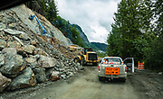 Construction on Haines Highway, Alaska, USA