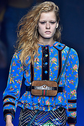 Model Sabina Ruegg walks on the runway during the Gucci Fashion Show during Milan Fashion Week Spring Summer 2018 held in Milan, Italy on September 20, 2017. (Photo by Jonas Gustavsson/Sipa USA)