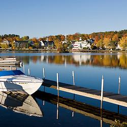 Early morning on Lake Winnipesauke in Meredith, New Hampshire.  Meredith Bay.