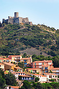 The military fortress above the village. Collioure. Roussillon. France. Europe.