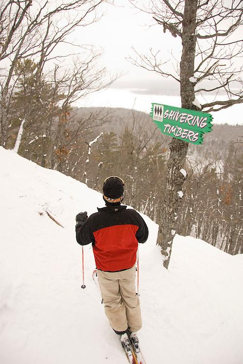 Lonnie Glieberman manager of Mount Bohemia ski resort in Michigans Upper Peninsula skis a backcountry run at the ski hill.