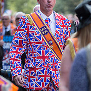 A pro union march through Edinburgh to support the No vote in this week's Independence Referendum. 10,000 Orangemen and Women march in support of the No vote.  Picture Robert Perry 13th Sept  2014<br /> <br /> Must credit photo to Robert Perry<br /> FEE PAYABLE FOR REPRO USE<br /> FEE PAYABLE FOR ALL INTERNET USE<br /> www.robertperry.co.uk<br /> NB -This image is not to be distributed without the prior consent of the copyright holder.<br /> in using this image you agree to abide by terms and conditions as stated in this caption.<br /> All monies payable to Robert Perry<br /> <br /> (PLEASE DO NOT REMOVE THIS CAPTION)<br /> This image is intended for Editorial use (e.g. news). Any commercial or promotional use requires additional clearance. <br /> Copyright 2014 All rights protected.<br /> first use only<br /> contact details<br /> Robert Perry     <br /> 07702 631 477<br /> robertperryphotos@gmail.com<br /> no internet usage without prior consent.         <br /> Robert Perry reserves the right to pursue unauthorised use of this image . If you violate my intellectual property you may be liable for  damages, loss of income, and profits you derive from the use of this image.