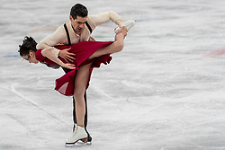 PYEONGCHANG-GUN, SOUTH KOREA - FEBRUARY 20: Anna Cappellini and Luca Lanotte of Italy compete in the Figure Skating Ice Dance Free Dance on day eleven of the PyeongChang 2018 Winter Olympic Games at Gangneung Ice Arena on February 20, 2018 in Gangneung, South Korea.  Photo by Ronald Hoogendoorn / Sportida
