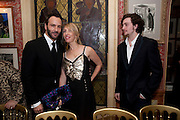 TOM FORD SAM TAYLOR WOOD; AAron Johnson;, Graydon Carter hosts a diner for Tom Ford to celebrate the London premiere of ' A Single Man' Harry's Bar. South Audley St. London. 1 February 2010
