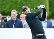 Pep Guardiola on the 1st hole tee during the Celebrity Pro-Am day at Wentworth Club, Virginia Water, United Kingdom on 23 May 2018. Picture by Phil Duncan.