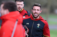 Rhys Webb of Wales arrives for training in relaxed mood. Wales Rugby team training at the Vale Resort, Hensol near Cardiff, South Wales on Thursday 2nd Feb 2017.  The team are preparing for the the RBS Six nations match against Italy.  pic by  Andrew Orchard, Andrew Orchard sports photography.