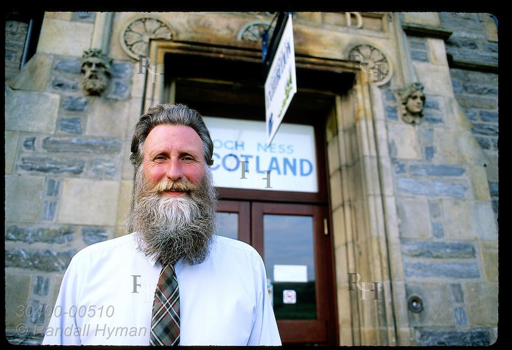 Naturalist Adrian Shine, expert Loch Ness Monster investigator, @ 'Nessie' museum; Drumnadrochit Scotland