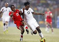 Fotball<br /> Afrika mesterskapet 2008<br /> Foto: DPPI/Digitalsport<br /> NORWAY ONLY<br /> <br /> FOOTBALL - AFRICAN CUP OF NATIONS 2008 - QUALIFYING ROUND - GROUP A - 24/01/2008 - GHANA v NAMIBIA - BUFFOUR GYAN (GHA) / JAMUNOVAMDU NGATJIZEKO (NAM)