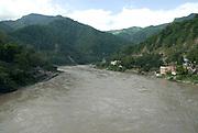 India, Uttarakhand, Rishikesh The Ganges River