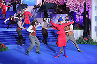 Performers on the blue carpet, Mary Poppins Returns European Premiere, Royal Albert Hall, Kensington Gore, London, UK, 12 December 2018, Photo by Richard Goldschmidt