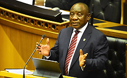 SOUTH AFRICA - Cape Town - 15 October 2020- President Cyril Ramaphosa addresses members of Parliament in a Joint sitting about the Economic recovery plan after the COVID-19 almost collaped the economy of this country .Photograph; Phando Jikelo/African News Agency(ANA)