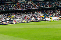 Tribute to the victims in the terrorist attack in Barcelona during Santiago Bernabeu Trophy. No tenemos miedo - We are not afraid. August 23,2017. (ALTERPHOTOS/Acero)