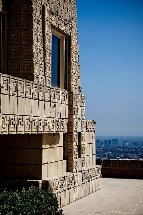 Ennis House, Los Angeles by Frank Lloyd Wright photographed by Wayne Cable.