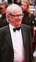 Director Ken Loach at Jimmy's Hall gala screening red carpet at the 67th Cannes Film Festival France. Thursday 22nd May 2014 in Cannes Film Festival, France.