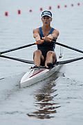 Poznan, POLAND, 21st June 2019, Friday, Morning Heats, USA MUSA W1X KOHLER Kara,  FISA World Rowing Cup II, Malta Lake Course, © Peter SPURRIER/Intersport Images,<br /> <br /> 12:00:59