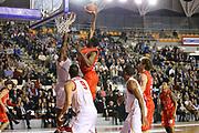 DESCRIZIONE : Roma Lega A 2013-14 Acea Virtus Roma EA7 Emporio Armani Milano<br /> GIOCATORE : Gani Lawal<br /> CATEGORIA : schiacciata tiro<br /> SQUADRA : EA7 Emporio Armani Milano<br /> EVENTO : Campionato Lega A 2013-2014 <br /> GARA : Acea Virtus Roma  EA7 Emporio Armani Milano<br /> DATA : 02/12/2013<br /> SPORT : Pallacanestro <br /> AUTORE : Agenzia Ciamillo-Castoria/ElioCastoria<br /> Galleria : Lega Basket A 2013-2014  <br /> Fotonotizia : Roma Lega A 2013-14 Acea Virtus Roma EA7 Emporio Armani Milano