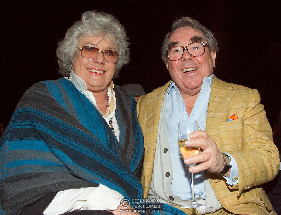 Ronnie Corbett, comedian and his wife, Anne E Hart at the Michiko Koshino show at London Fashion Week 2006. at London Fashion Week 2006. Season Autumn/Winter 2006/07. The show was at the Natural History Museum in South Kensington, London.<br /> Copyright: ©2006 Licensed to Equinox News Pictures Ltd.<br /> Contact: Equinox Features +448700 780000<br /> Date Taken: 20060214<br /> Time Taken: 140342+0000<br /> www.newspics.com