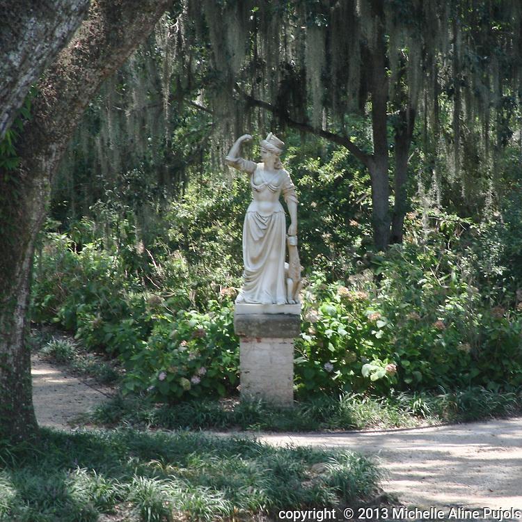 Rosedown Plantation statue. St. Francisville, LA.