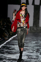 Meghan Collison walks the runway wearing Miss Sixty Fall 2009 Collection