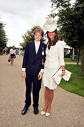 COUNTESS DEBONAIRE VON BISMARCK and her son SACHA VON BISMARCK at day 1 of the annual Glorious Goodwood racing festival held at Goodwood Racecourse, West Sussex on 28th July 2009.