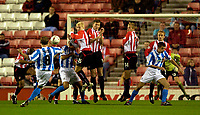 Photo. Jed Wee.<br /> Sunderland v Huddersfield Town, Carling Cup 2nd Round, Stadium of Light, Sunderland. 23/09/2003.<br /> Hudderfield's Tony Carss curls home a free kick in the first minute to stun Sunderland.