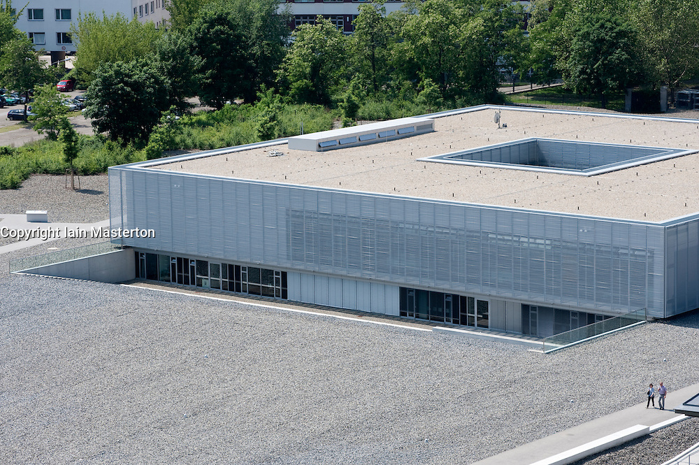 View of new visitor centre at Topographie des Terrors or Topography of Terror the former Gestapo Headquarters in Berlin