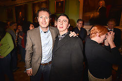 Left to right, Nick Moran and Marc Almond at a party to celebrate the publication of The Fatal Tree by Jake Arnott held at The Foundling Museum, 40 Brunswick Square, London, England. 22 February 2017.