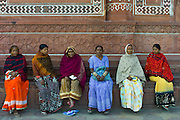 Indian women visiting The Taj Mahal, Uttar Pradesh, India