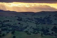 Overlooking green hills in spring near Morgan Hill, Santa Clara County, California