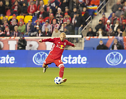 STYLEPREPENDDaniel Royer (77) of Red Bulls controls ball during 2nd leg MLS Cup Eastern Conference semifinal game against Columbus Crew SC at Red Bul Arena Red Bulls won 3 - 0 agregate 3 - 1 and progessed to final  (Credit Image: © Lev Radin/Pacific Press via ZUMA Wire)