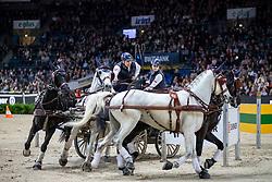Geertds Glenn, BEL, Maestoso LI, Maestoso XLV-1-1, Silver, Szellem<br /> FEI World CupTM Driving - Stuttgart 2018<br /> © Hippo Foto - Stefan Lafrentz<br /> 17/11/2018