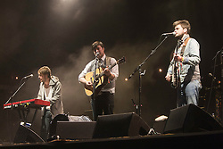 Mumford & Sons headline the main stage on Friday night..Rockness 2012..©Michael Schofield..