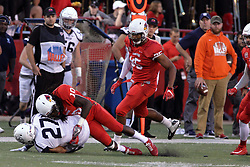 02 September 2017:   Davontae Harris stops Duvante Lane during the Butler Bulldogs at  Illinois State Redbirds Football game at Hancock Stadium in Normal IL (Photo by Alan Look)