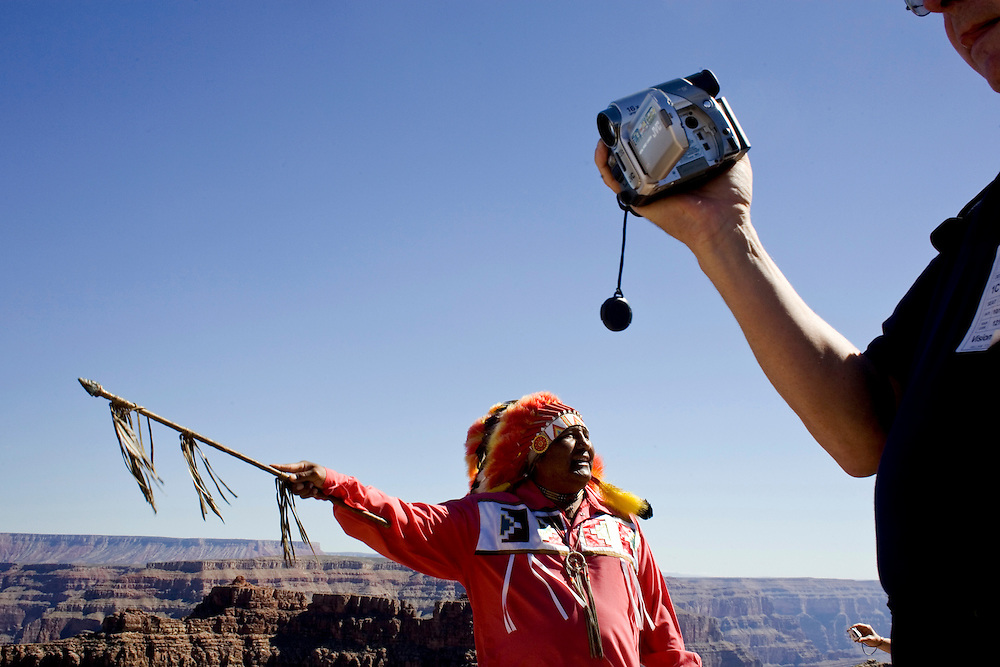 Hualapai guide Don Havatone, Grand Canyon West, Arizona