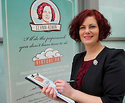 27/01/2014<br /> Linda Flynn from Flynn Admin at the SCCUL enterprise awards EXPO at the bailey Allen in NUIG<br /> Photo:Andrew Downes
