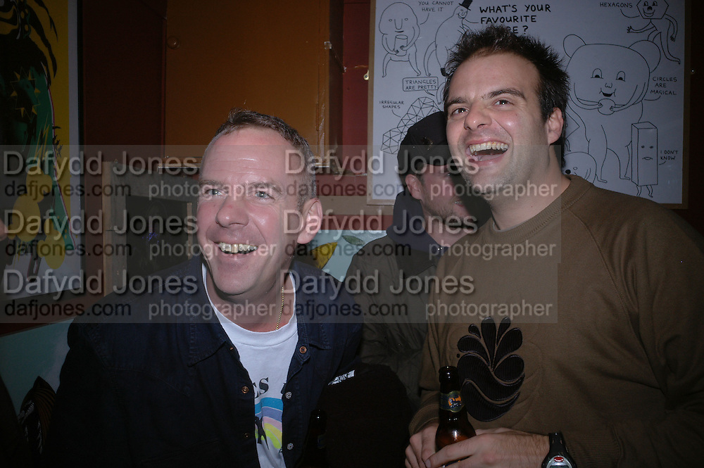 Norman Cook , Opening of  Santa's Ghetto. Mixed art exhibition.  9 Berwick St. Soho, London. 30  November 2005. ONE TIME USE ONLY - DO NOT ARCHIVE  © Copyright Photograph by Dafydd Jones 66 Stockwell Park Rd. London SW9 0DA Tel 020 7733 0108 www.dafjones.com