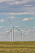 Wind turbines at the Happy Jack Wind Farm outside Cheyenne, Wyoming.