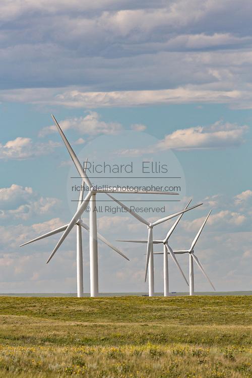 Wind turbines at the Happy Jack Wind Farm outside Cheyenne, Wyoming.