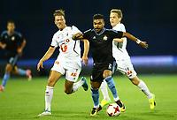 27.07.2017., Zagreb, Croatia - <br /> UEFA Europa League Third qualifying round, Game 1.  Dinamo Zagreb vs Odd. <br />  Hilal Soudani.<br /> .<br /> Martin Broberg , Odd<br /> Norway only