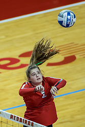 BLOOMINGTON, IL - October 23: Katelyn Lefler  during a college Women's volleyball match between the ISU Redbirds and the Drake Buldogs on October 23 2021 at Illinois State University in Normal, IL. (Photo by Alan Look)