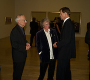 Leon Kossoff; Maggi Hambling; Sir Nicholas Serota. Francis Bacon opening private view and dinner. Tate Britain. 8 September 2008 *** Local Caption *** -DO NOT ARCHIVE-© Copyright Photograph by Dafydd Jones. 248 Clapham Rd. London SW9 0PZ. Tel 0207 820 0771. www.dafjones.com.