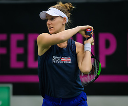 November 10, 2018 - Prague, Czech Republic - Alison Riske of the United States during practice ahead of the 2018 Fed Cup Final between the Czech Republic and the United States of America (Credit Image: © AFP7 via ZUMA Wire)