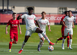 LIVERPOOL, ENGLAND - Wednesday, September 15, 2021: AC Milan's Nosa Edward Obaretin during the UEFA Youth League Group B Matchday 1 game between Liverpool FC Under19's and AC Milan Under 19's at the Liverpool Academy. Liverpool won 1-0. (Pic by David Rawcliffe/Propaganda)