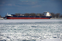 Ship anchored in Toronto Harbour, Lake Ontario, Toronto , Ontario, Canada