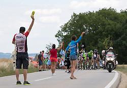 04.07.2017, Pöggstall, AUT, Ö-Tour, Österreich Radrundfahrt 2017, 2. Etappe von Wien nach Pöggstall (199,6km), im Bild Buffet für die Rennfahrer // Feeding zone during the 2nd stage from Vienna to Pöggstall (199,6km) of 2017 Tour of Austria. Pöggstall, Austria on 2017/07/04. EXPA Pictures © 2017, PhotoCredit: EXPA/ Reinhard Eisenbauer