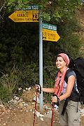 Turkey, Antalya Province, Olympos National Park female hiker